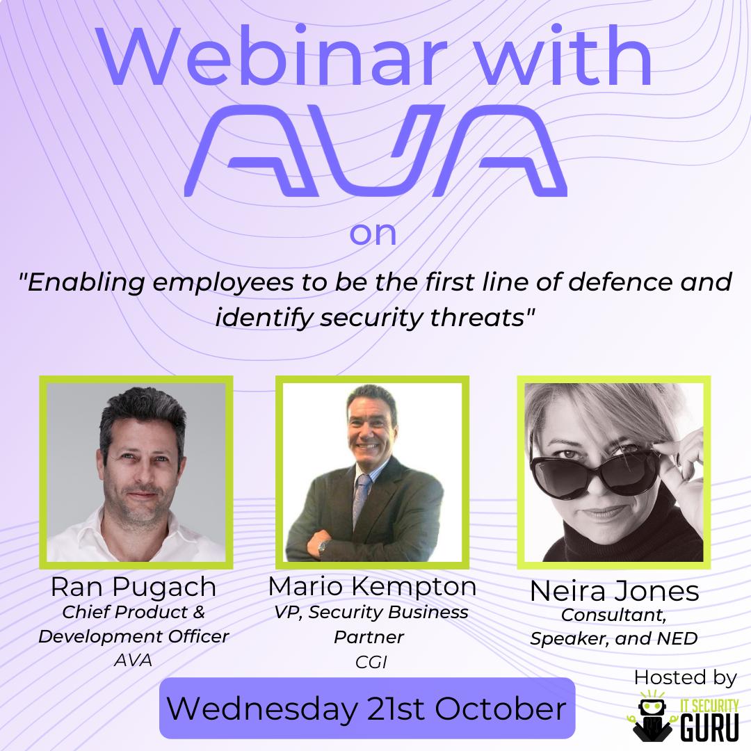Ava Security Webinar Panel discussion promo